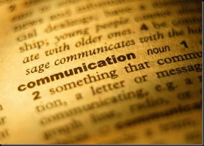 Entrada en el diccionario inglés de la palabra Communication