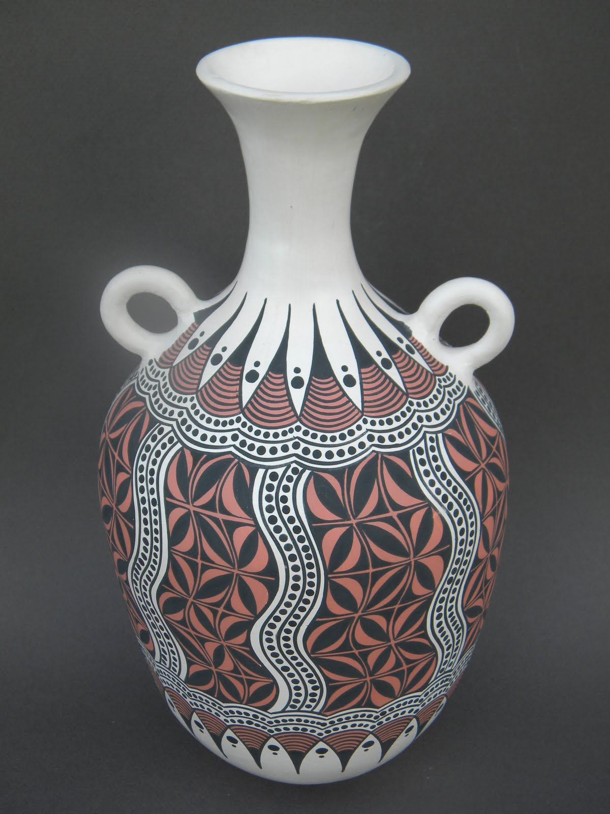 two tribes pottery art work handbuilt handcoiled and