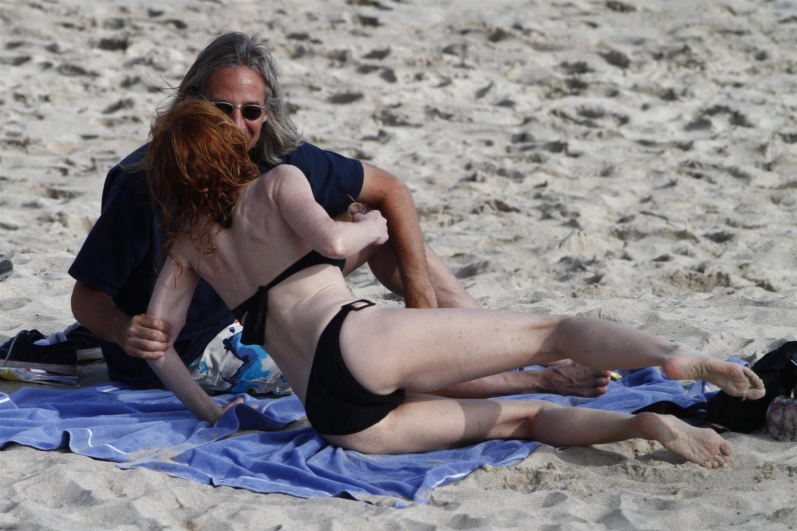 Marg Helgenberger Hits The Beach In St Barts Marg Is Wearing A Two Piece Black Swimwear On The Beach