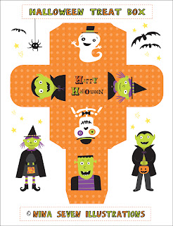 Munchkins and mayhem origami halloween boxes nina seven shares a free printable halloween box template featuring all of the favorite halloween characters such as a witch frankenstein a ghost maxwellsz