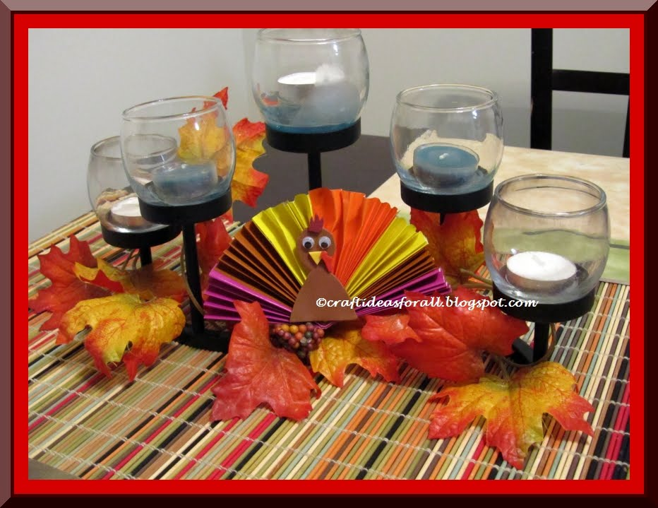 Craft ideas for all thanksgiving table centerpiece