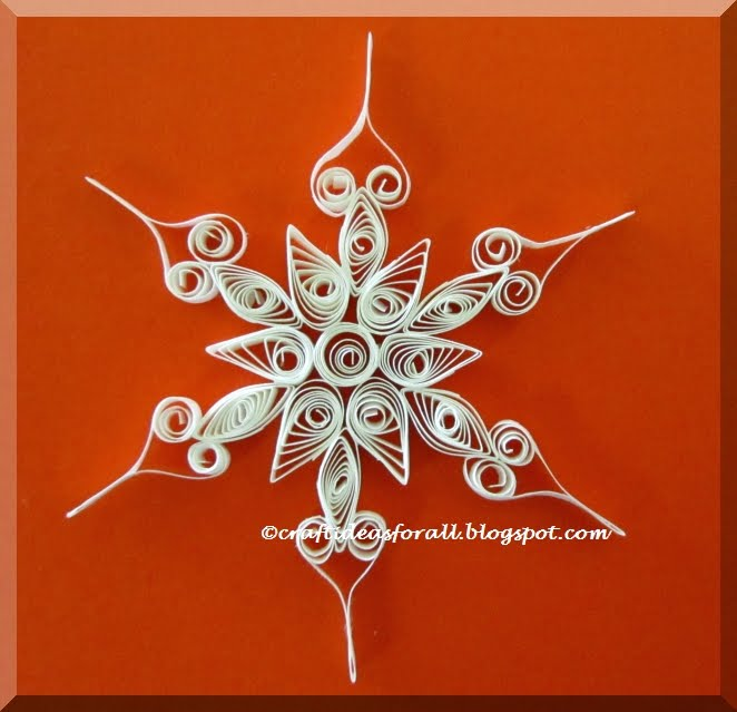 Craft Ideas For All Snowflake Craft