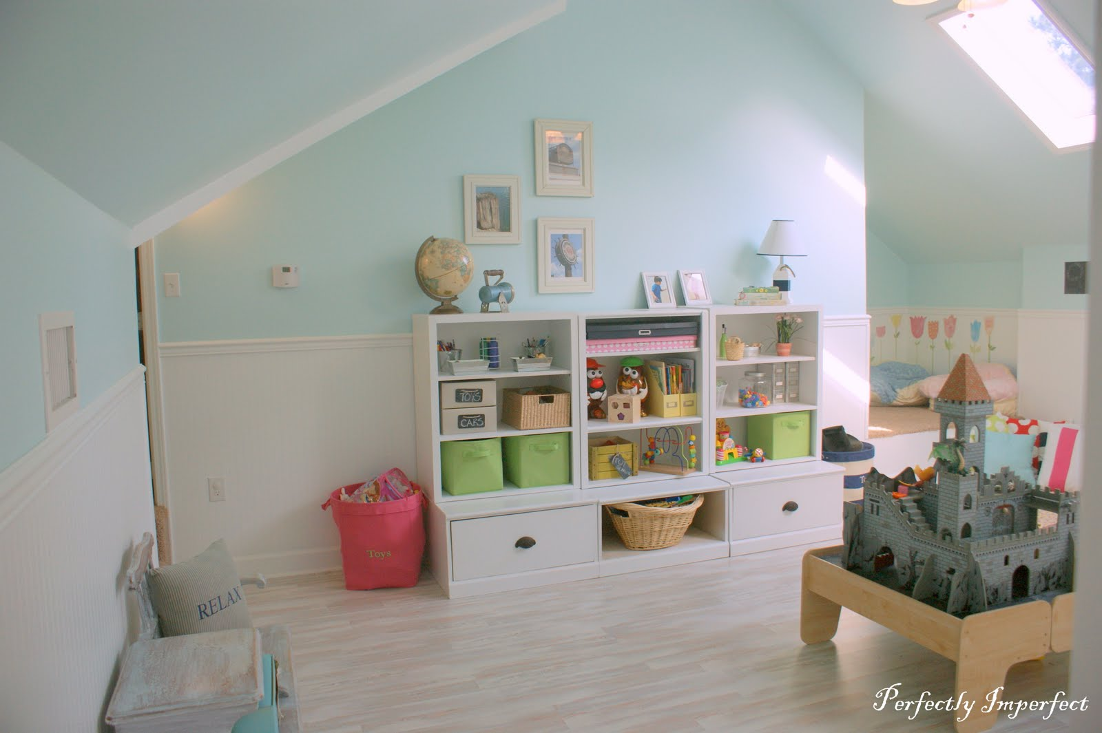Remodelaholic Pottery Barn Inspired Attic Playroom For Kids