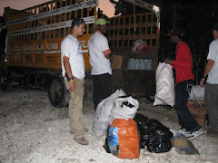 Loading up to give out food in Port Au Prince