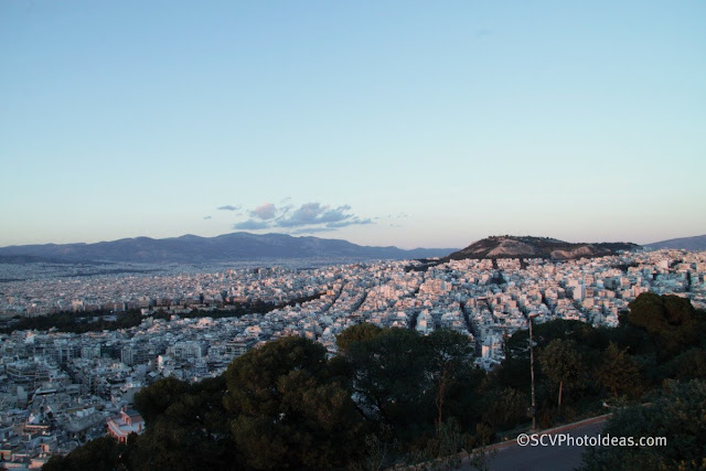 Twilight over Athens north east view