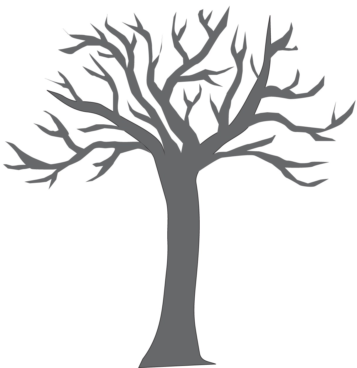 big tree trunk colouring pages