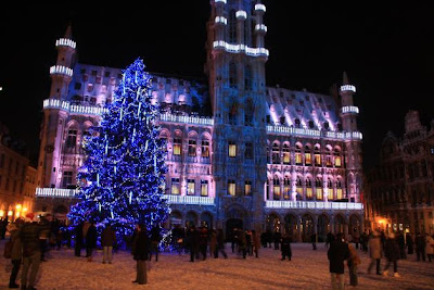 Christmas Tree Grand Place Bruxelles