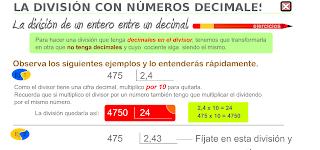 División de nº decimales.