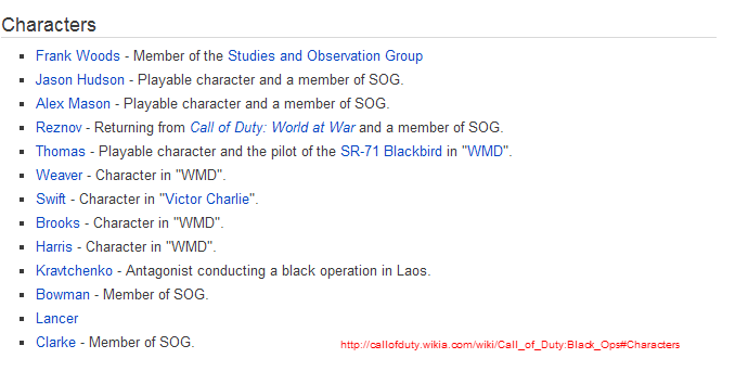 Call of duty games timeline