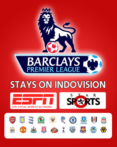 Barclays Premier League Hadir Di Indovision