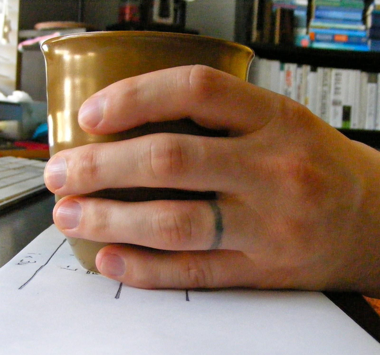 Mens Wedding Ring Tattoos: Angelina La Dawn Tomato: Wedding Rings {chronology}