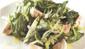 Receta de Ensalada verde y champiñones