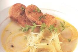 Receta de Sopa de Cebollas Blancas y Leche
