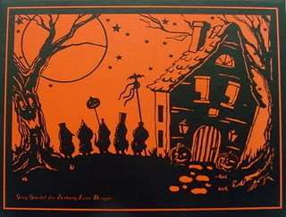 halloween realestate post card