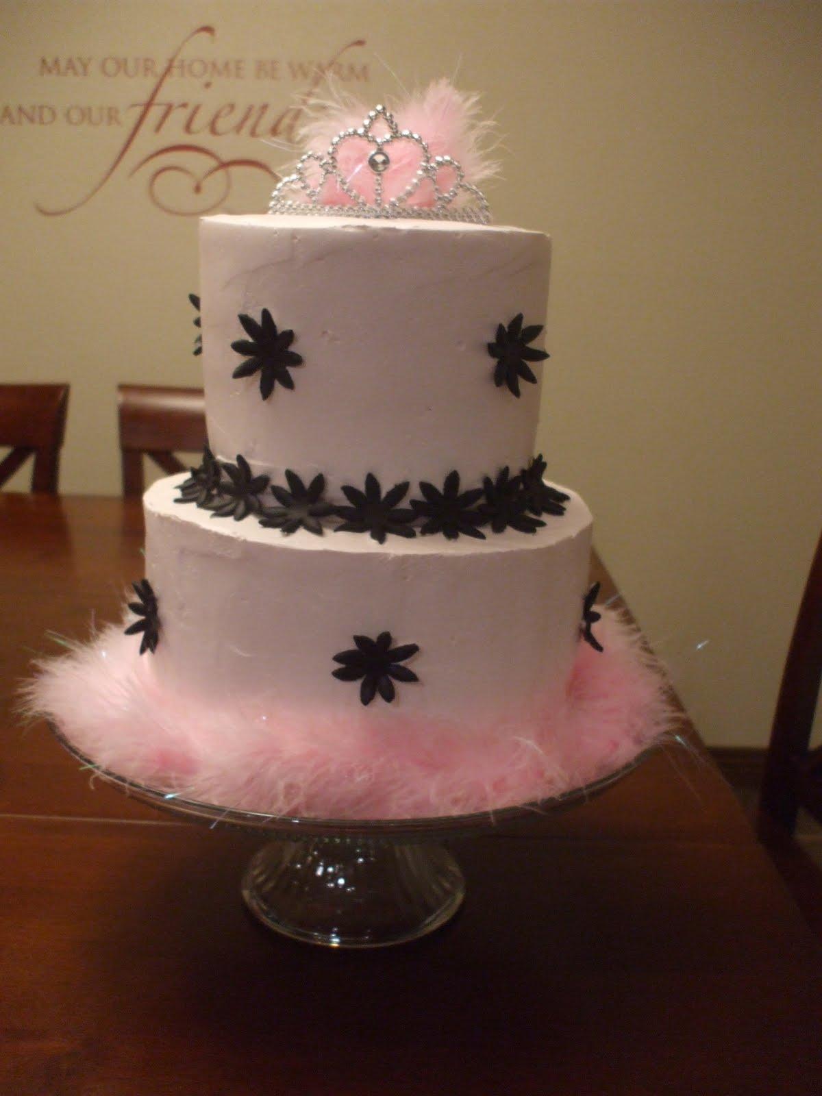 The Simple Cake Pink Amp Black Princess Birthday Cake