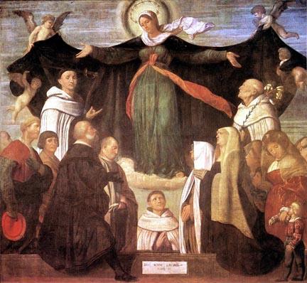 Resultado de imagem para virgem santíssima sob seu manto
