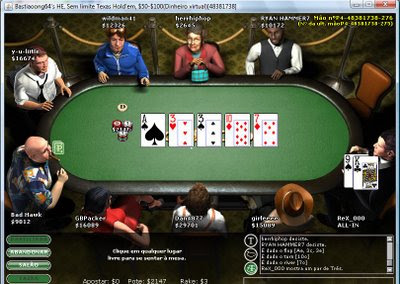 Com o poker, Real e VIrtual se misturam.