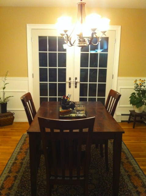 raising little lions dining room progress. Black Bedroom Furniture Sets. Home Design Ideas