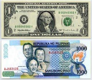 Peso versus dollar...