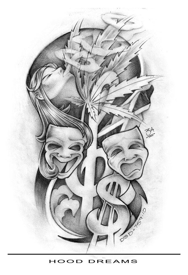 Tattoo Gangster Drawing