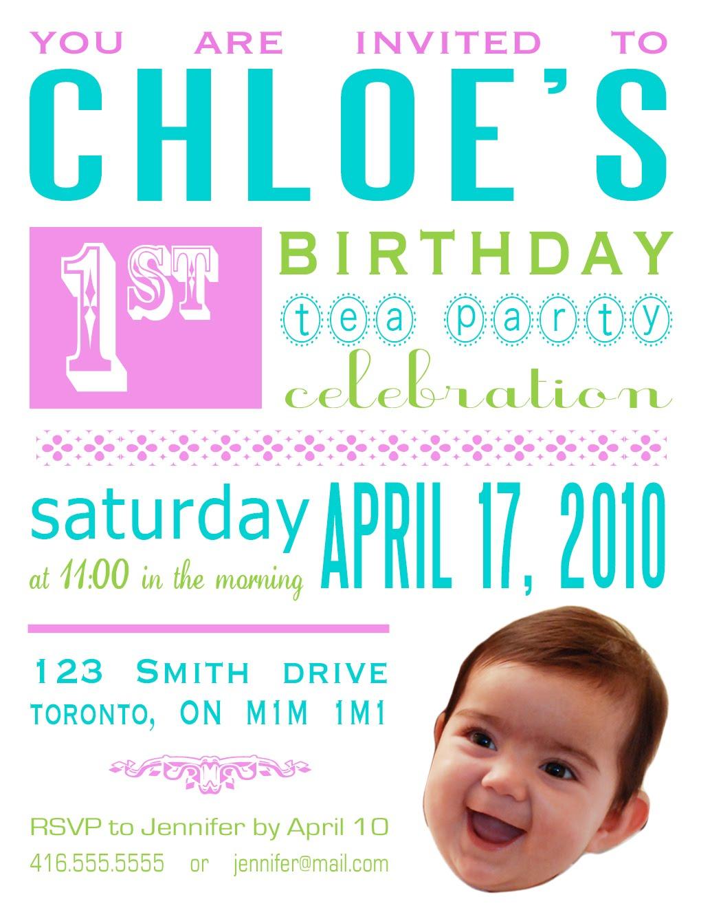 diy birthday party invitation, tea party invitation