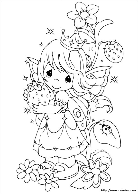 Barnas side tegninger for fargelegging for Precious moments coloring page
