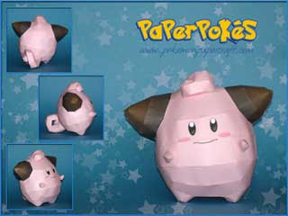 Pokemon Cleffa Papercraft