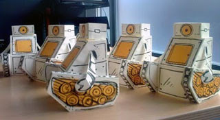 Symbian World Bugs and Bots Papercraft
