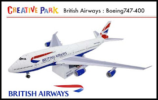 Speedbird British Airways Boeing 747-400 Papercraft