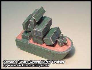 Advance Wars Cruiser Papercraft