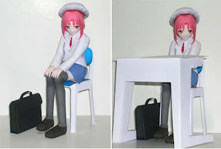 Anime Japanese School Girl Papercraft