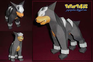 Pokemon Houndour Papercraft