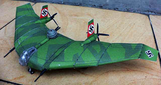 BV38 Flying Wing Papercraft