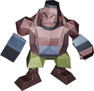 Final Fantasy VII Barret Papercraft