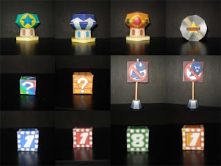 Mario Party Item Pack Papercraft