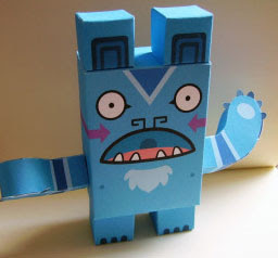 Blue Bear Paper Toy