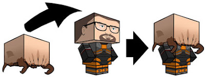 Half-Life Gordon Freeman Papercraft