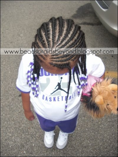 Beads Braids And Beyond Two Layered Slanted Cornrows