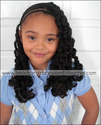 Side Cornrows With Braid-out- Natural Hair