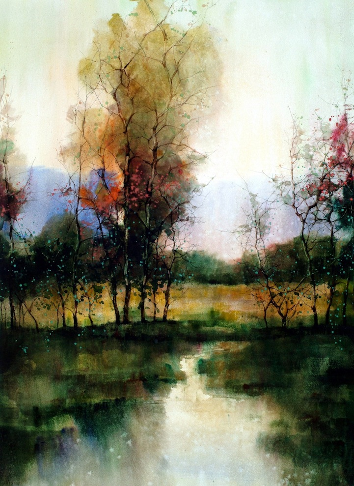 Design Cove 12 Beautiful Landscape Watercolors By ZL Feng