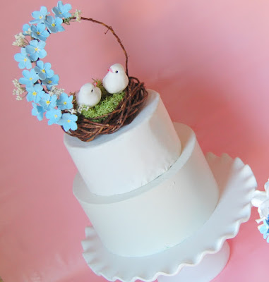 love bird nest cake topper