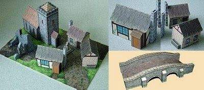 Medieval buildings papercraft