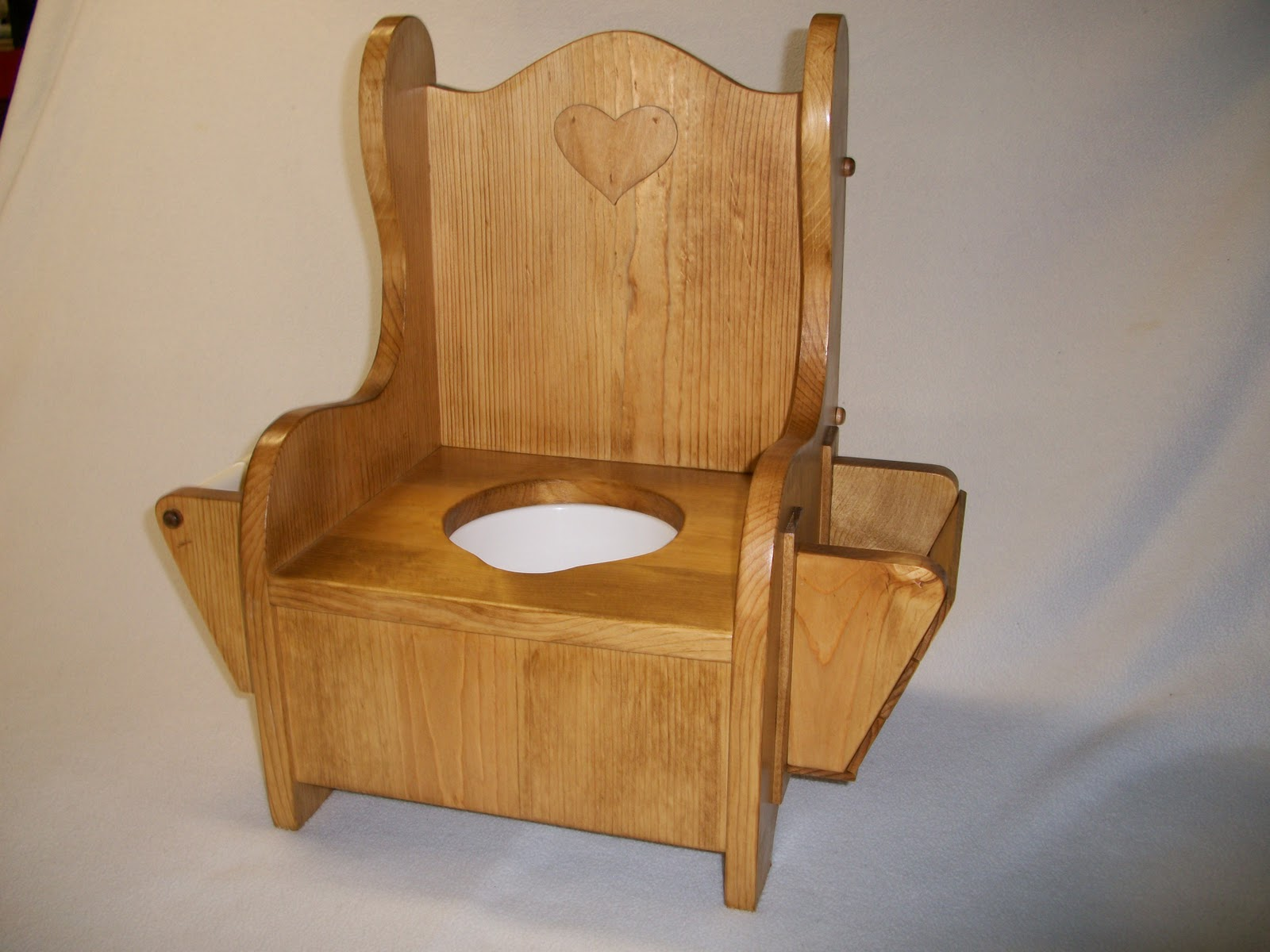 wooden potty chair