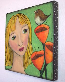 girl paint acrylic canvas