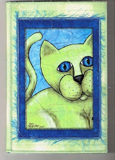cat fabric notepad folder