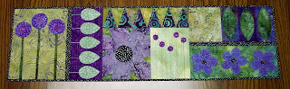 fabric quilt table runner applique embroidery cotton