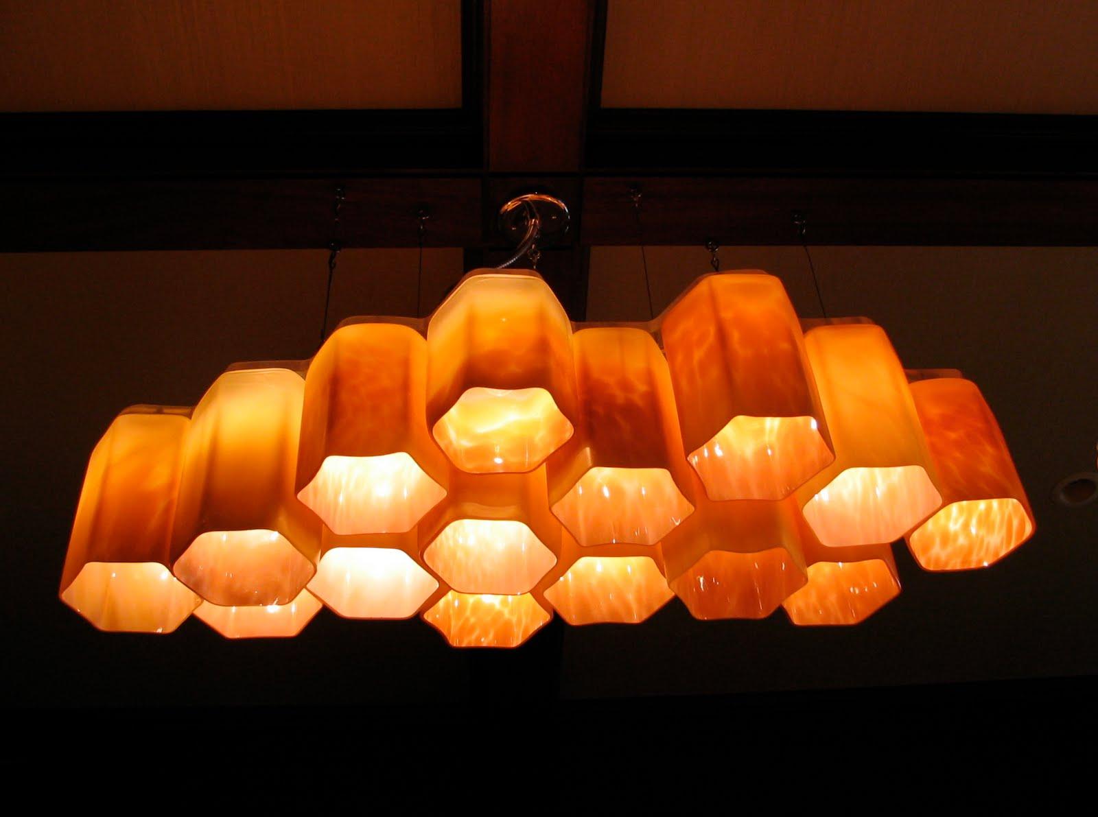 Bronze Kitchen Chandelier Caninets Scott Norwood Fitzel: Hive - Blown Glass ...