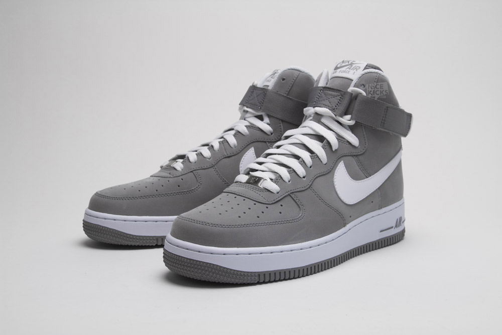 sports shoes 8d8bf be5f7 ... NIKE AIR FORCE 1S HIGH GREY WHITE .