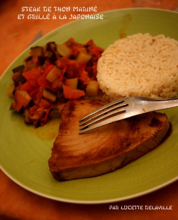 ne parle pas la bouche pleine steak de thon marin et grill la japonaise. Black Bedroom Furniture Sets. Home Design Ideas
