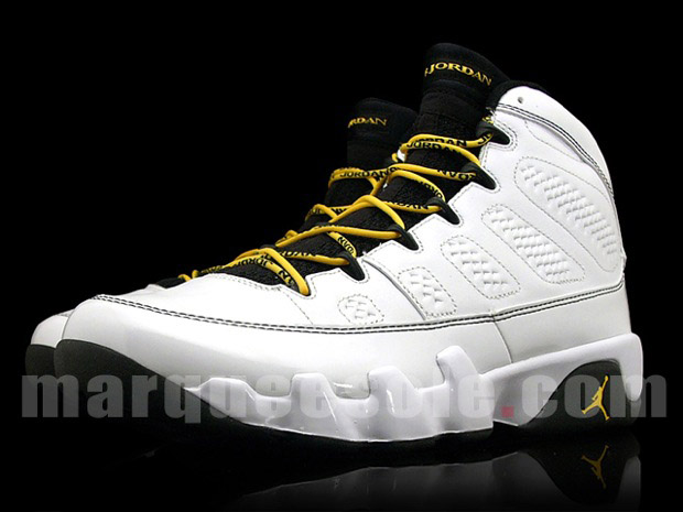 Scootie McBLOG  AIR JORDAN 9 WHITE  CITRUS-DEEP FOREST f00844ac9